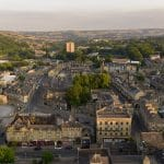 Little Yorkshire Town filmed by drone