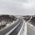 Drone filming of the M62 Motorway