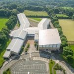 Drone over Yorkshire High School.
