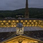 The Piece Hall Halifax at night