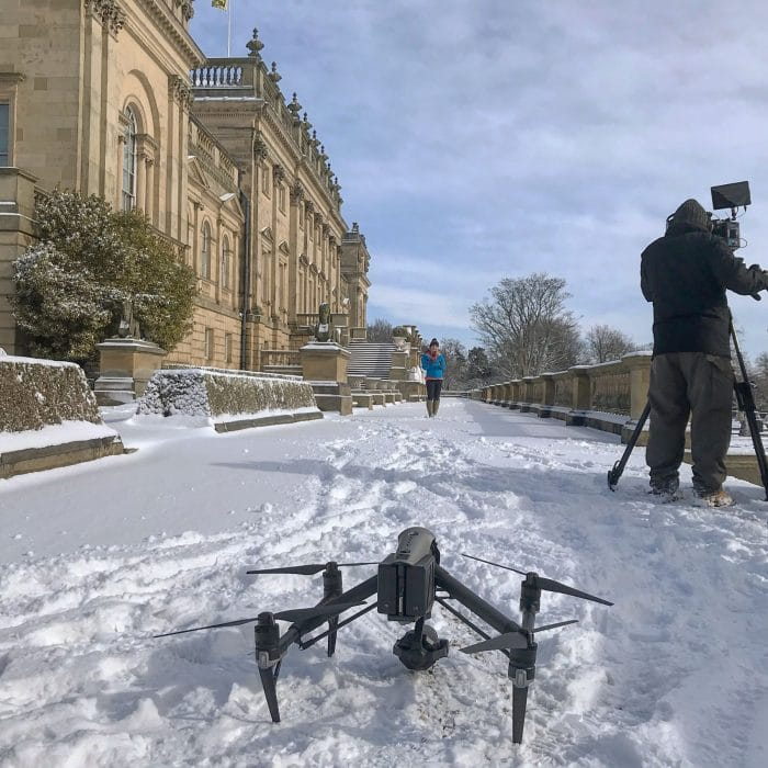 Helen Skelton, the Beast from the East, filmed by Halo Vue