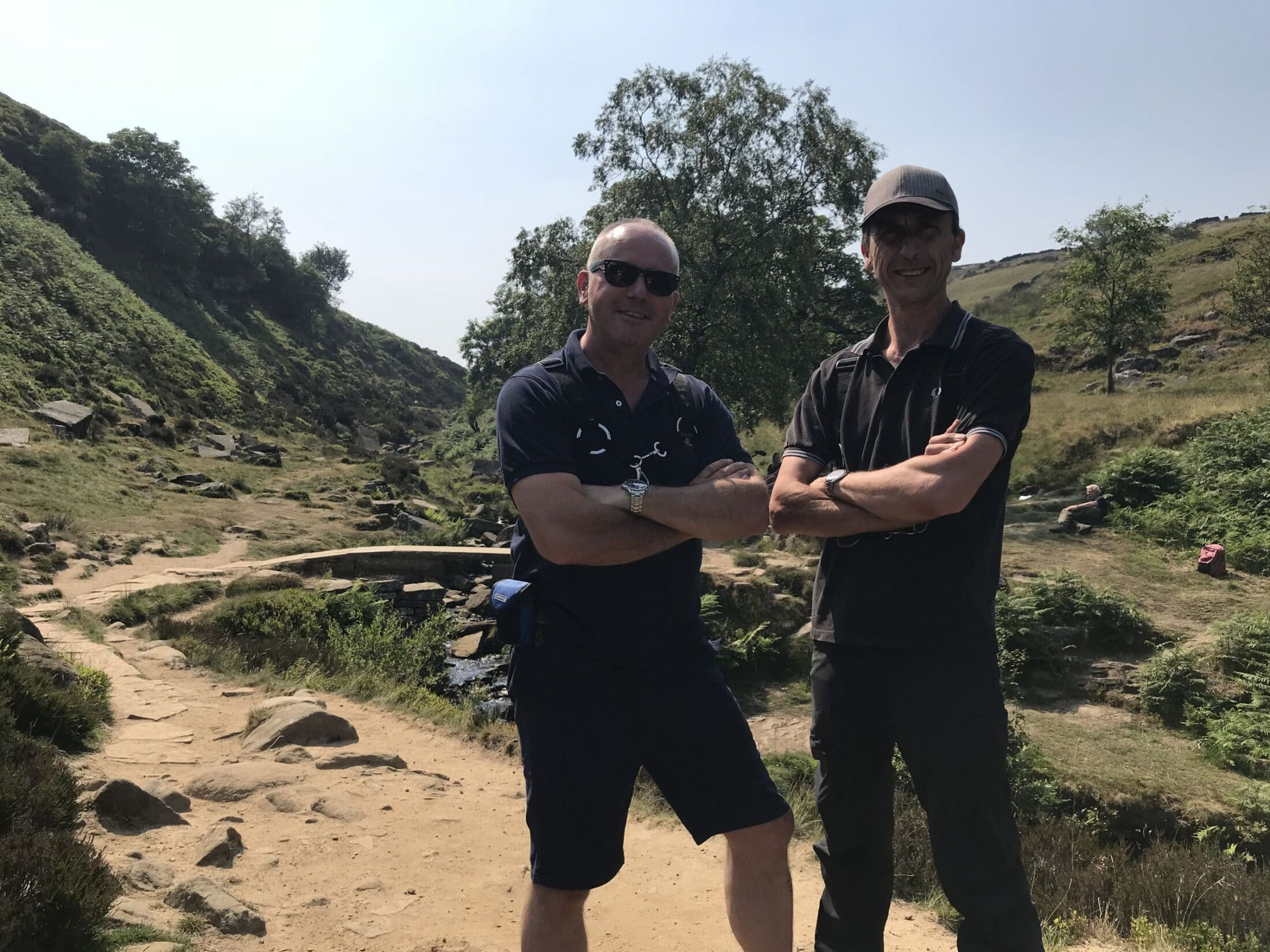 Phil and Darren on location filming for Ch4 TV
