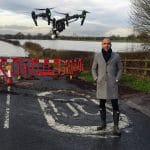 ITV Weather presenter Alex Bersiford and the Halo Vue drone