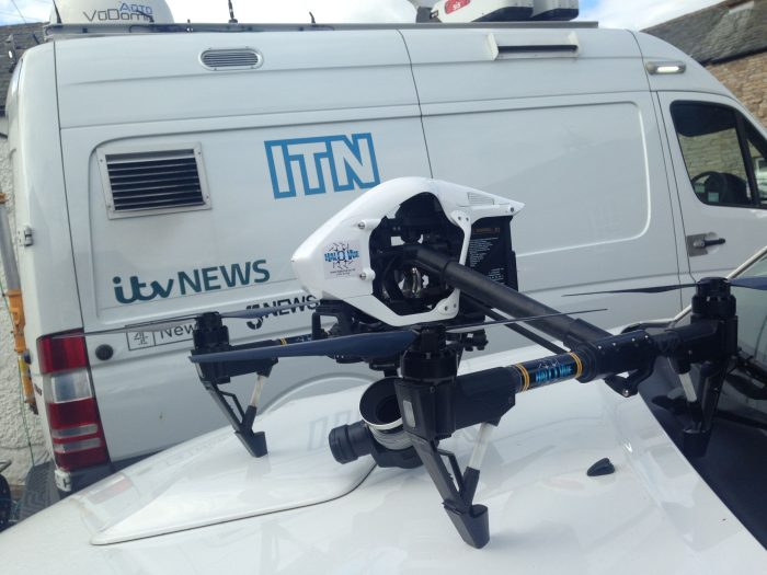 Filming for ITN News in the Yorkshire Dales