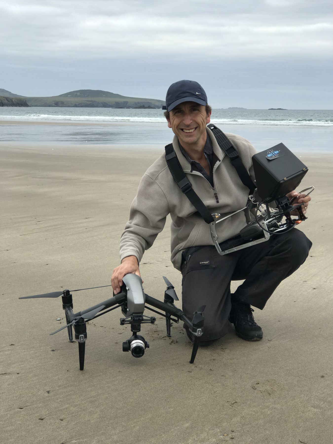 Drone Pilot on the beach