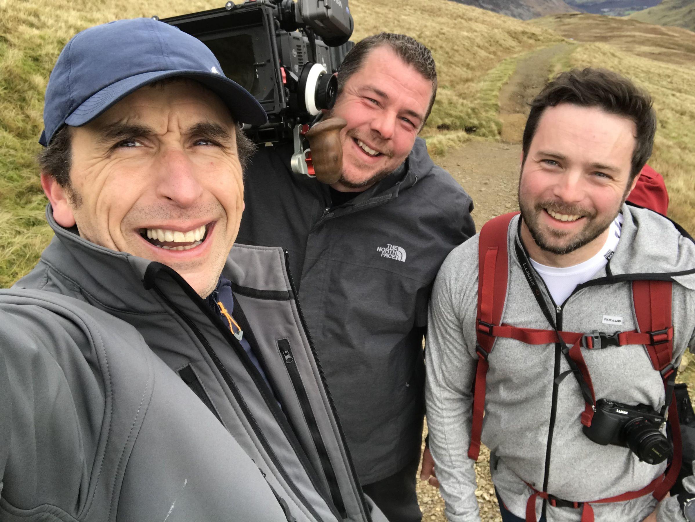 Camera team Photo on helvellyn