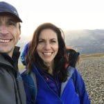 Julia Bradbury and Phil Fearnley, summit of Helvellyn