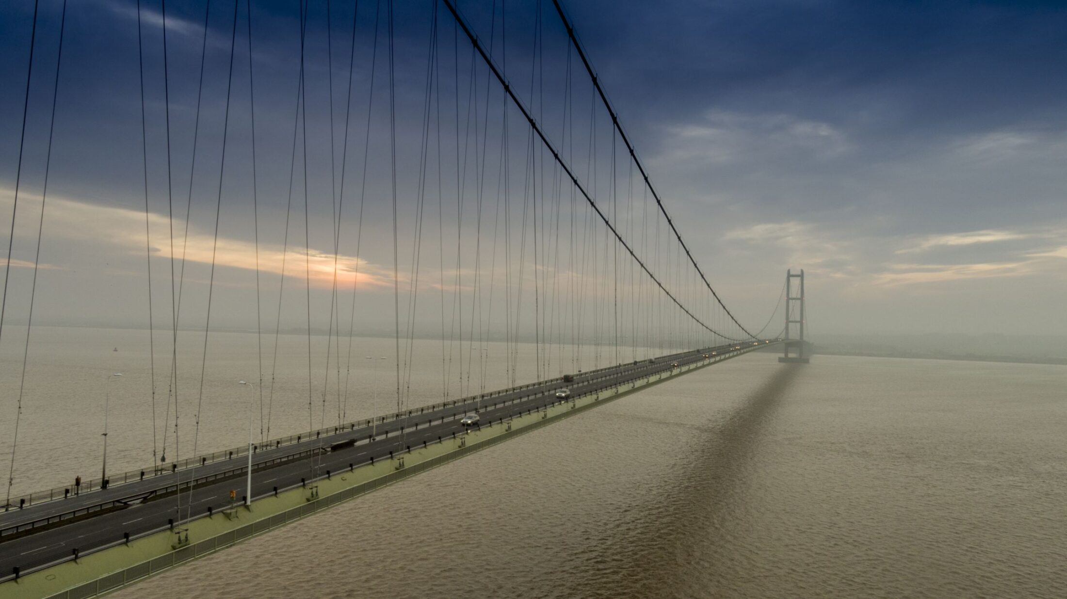 Humber Bridge by drone