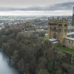 Aerial filmning and Drone photography of Durham Cathedral.