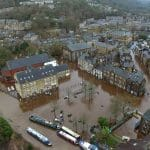 The boxing day floods filmed by drone