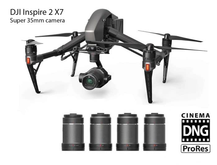 picture of the DJI inspire 2 drone