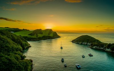 Watermouth Cove at sunset