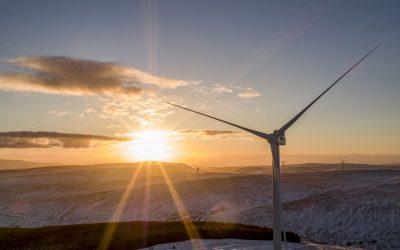 Wind Turbines filmed by Drone
