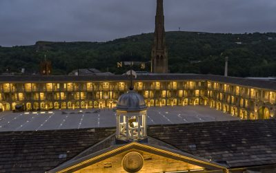 The Piece Hall Halifax at night