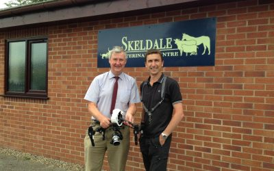 Peter from Ch5 TV's with pilot Phil FearnleyThe Yorkshire Vet