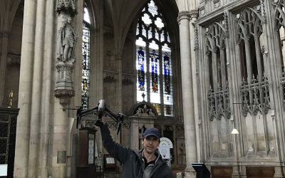 Flying drones in York Minster