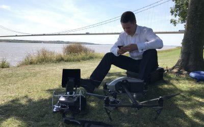 ITV News, Ben Chapman, drone, humber bridge,