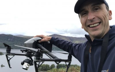 Phil Fearnley , drone pilot in the Lake District for ITV