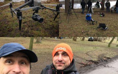 Filming on Emmerdale ITV
