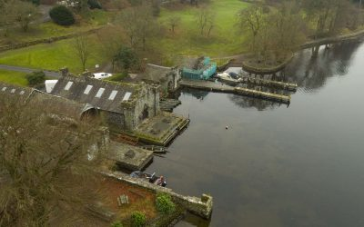 Lake Windermere by Drone with boats
