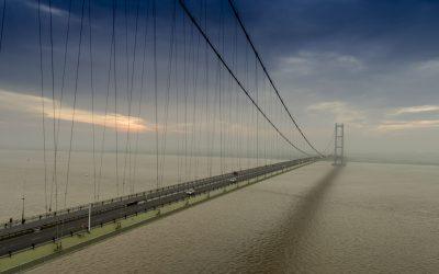 Humber Bridge by drone